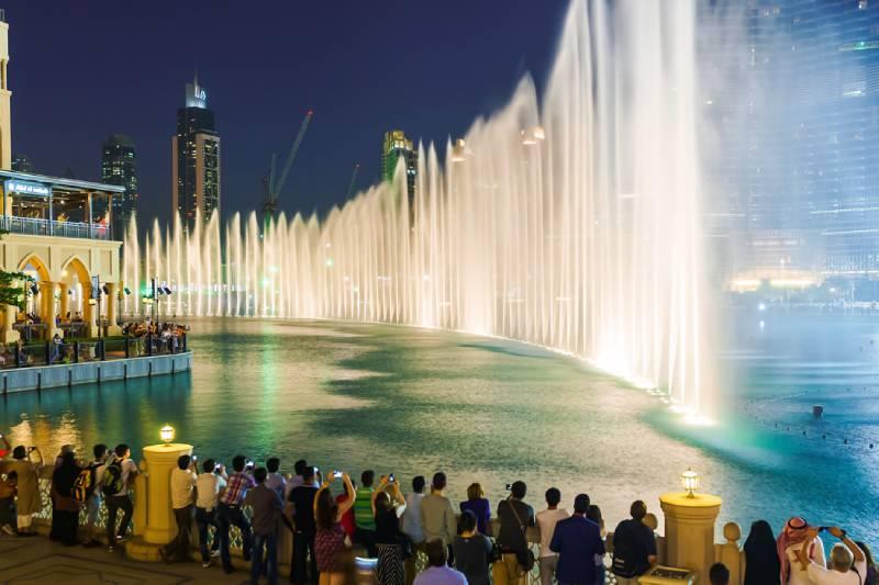 Fontana di Dubai - Viaggio di Nozze a Dubai
