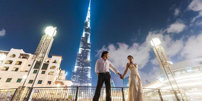 Dubai di sera - Viaggio di Nozze a Dubai